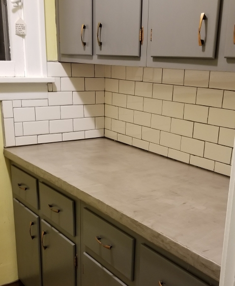 Concrete Countertops Finished 2018