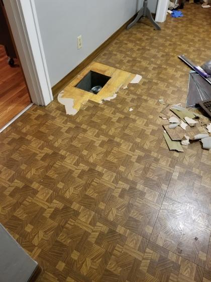 Kitchen Floor Begin Demo 2018