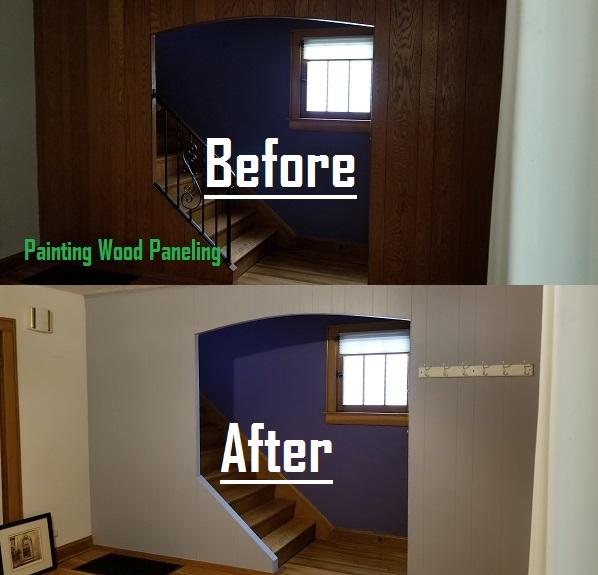 updating wood paneling