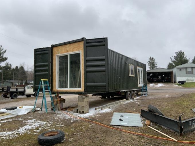 Container Bedroom Exterior door Feb 2019